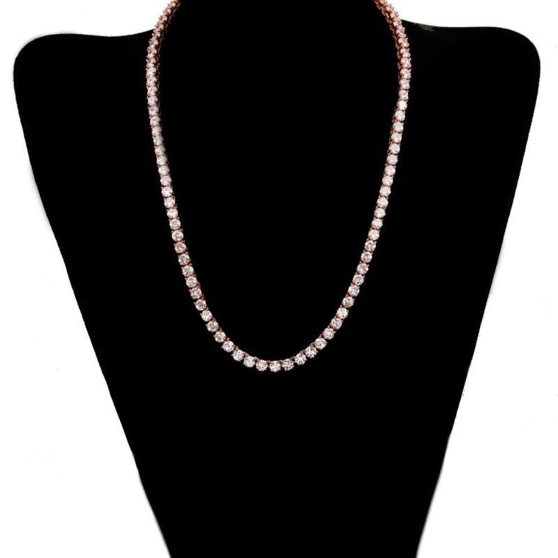 Classic 3mm Tennis Choker Necklace Made with Swarovski Crystals-Daily Steals