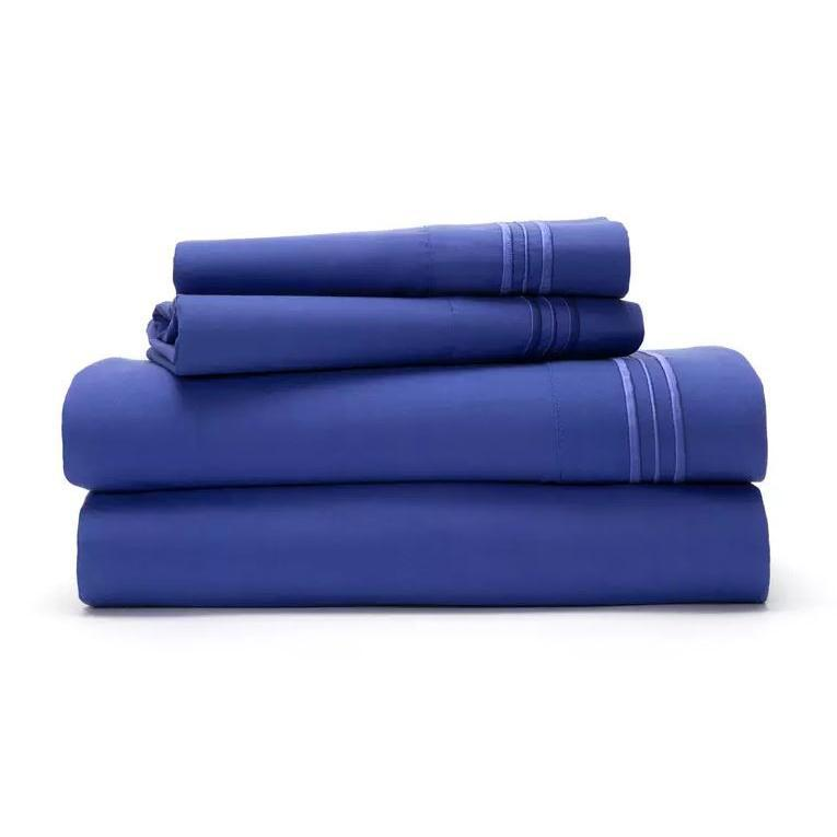 Ultra Soft 1800 Series Bamboo Blend Sheets - 4 Piece Set-Royal Blue-Full-Daily Steals