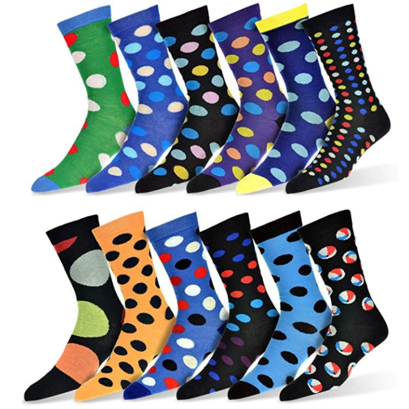 Robert Shweitzer Mens Fun and Colorful Patterned Dress Socks with Designs - 12 Pack-C-Daily Steals