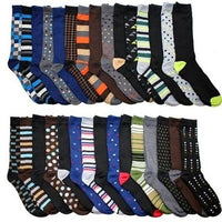 Daily Steals-John Weitz Men's Dress Socks - 30 Pair-Men's Apparel-
