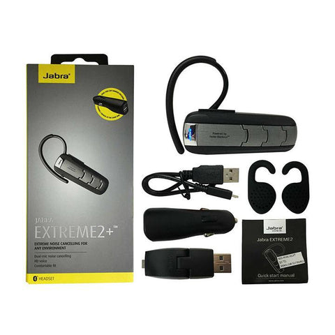 Daily Steals-Jabra Extreme2+ Bluetooth Wireless Universal Headset with Extreme Noise Cancelling - Brushed Metal-Headphones-