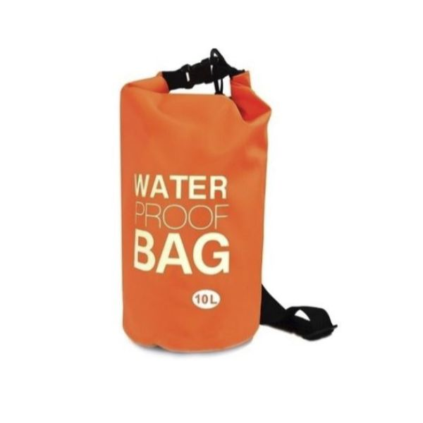 Waterproof 10-Liter Dry Bag with Shoulder Strap-Orange-Daily Steals