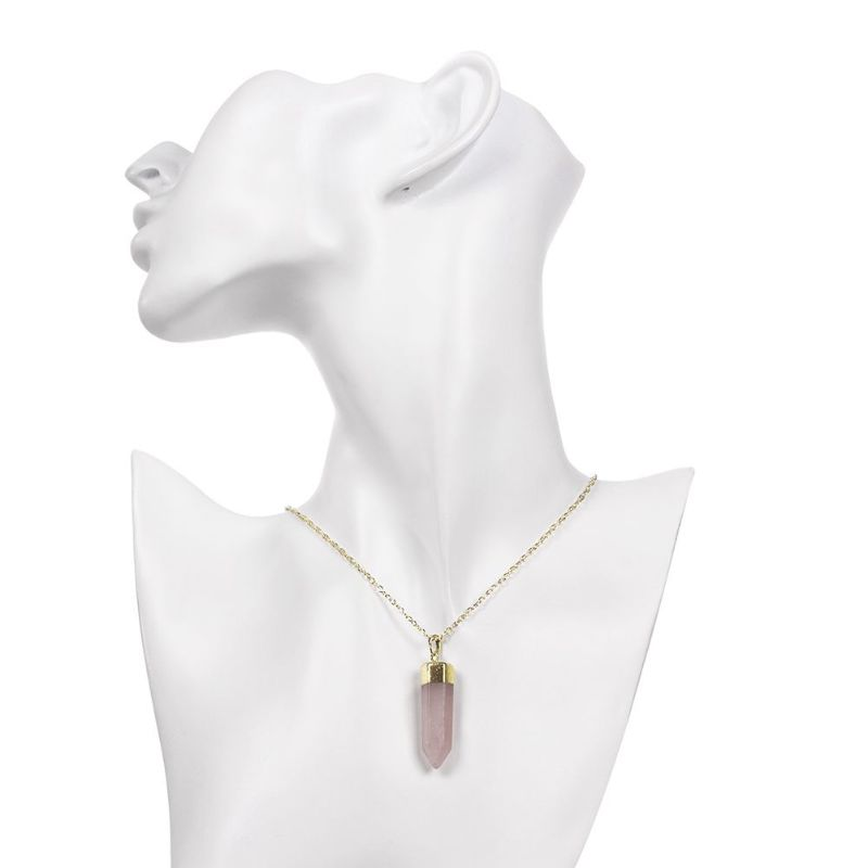 Opal Pink Lab Created Gemstone Necklace in 18K Gold Filled-Daily Steals