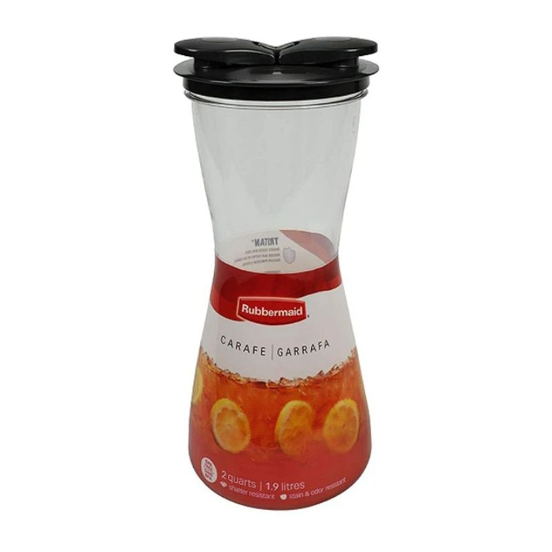 Rubbermaid 2 Quart Drink Carafe with Leak-Proof Lid - 2 Pack-Daily Steals