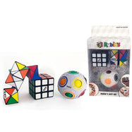Rubik's Original Rainbow Ball, Squishy Cube, & Magic Star Set - 3 Piece-Daily Steals