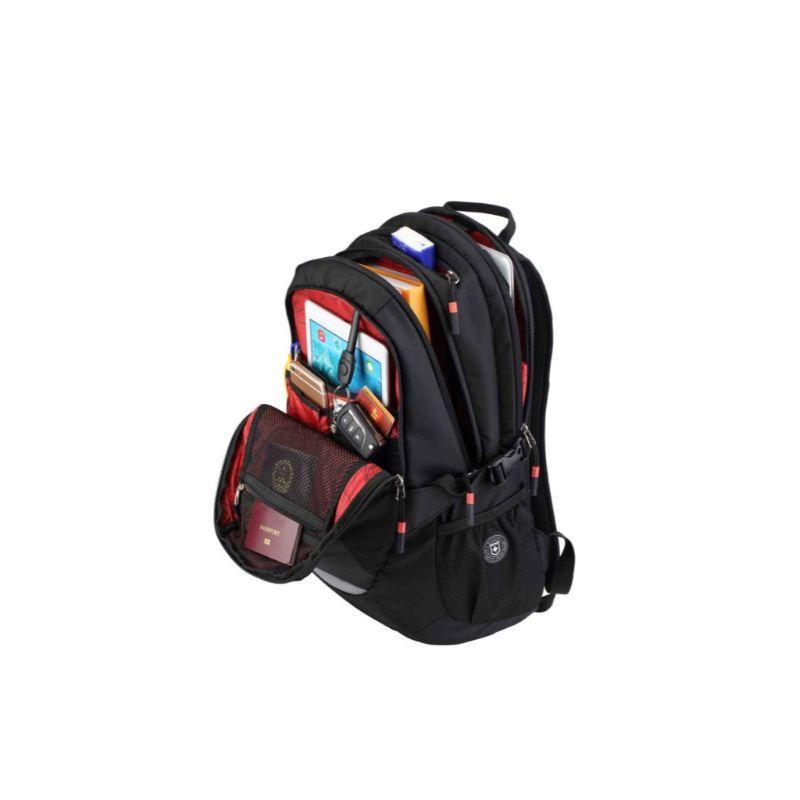 "Ruigor Active 29 Water-Repellent Polyester Black Backpack, Fits 15.6"" Laptops & 9.7"" Tablets-"