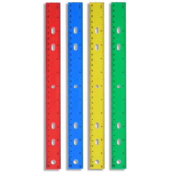 12 Inch Plastic Rulers - 15 Pack-Daily Steals