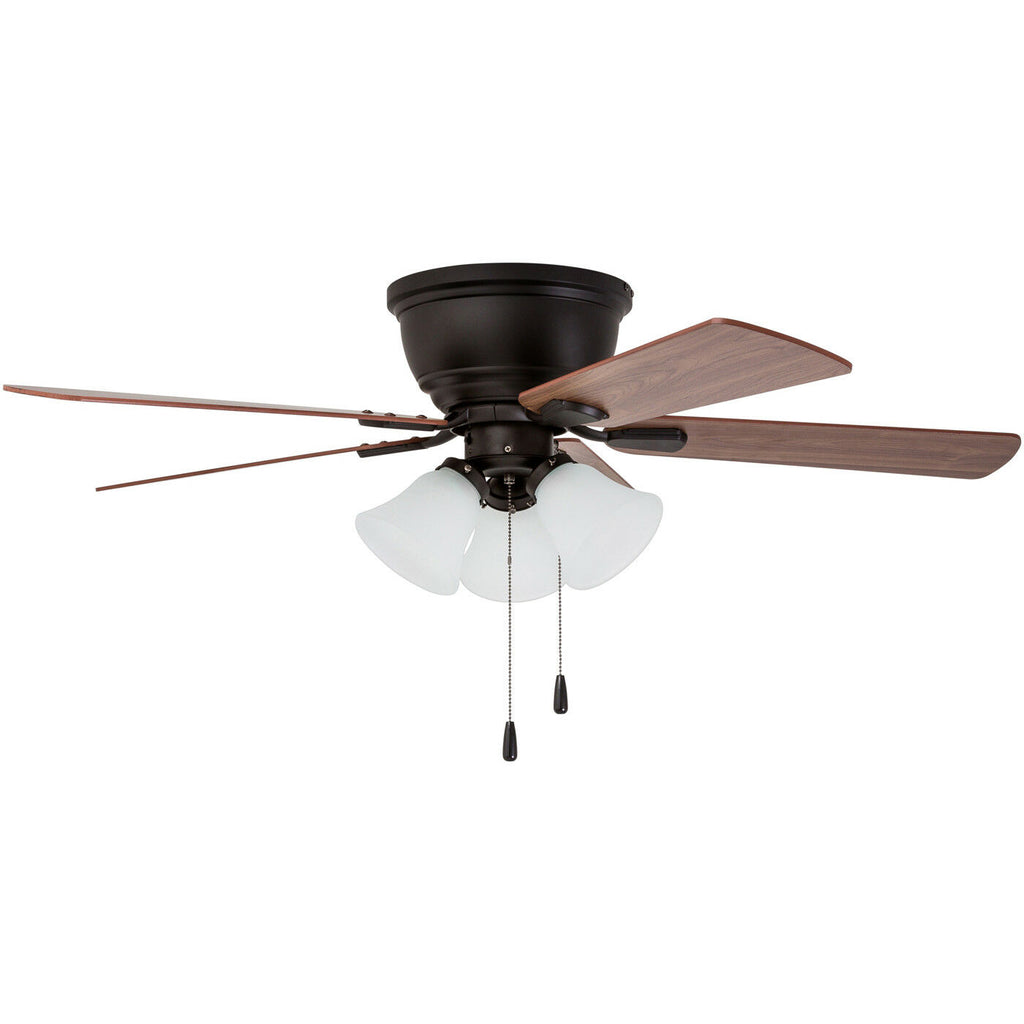 Prominence Home Ceiling Fan Saddle Ridge Low-Profile Hugger w/ LED Light-Daily Steals