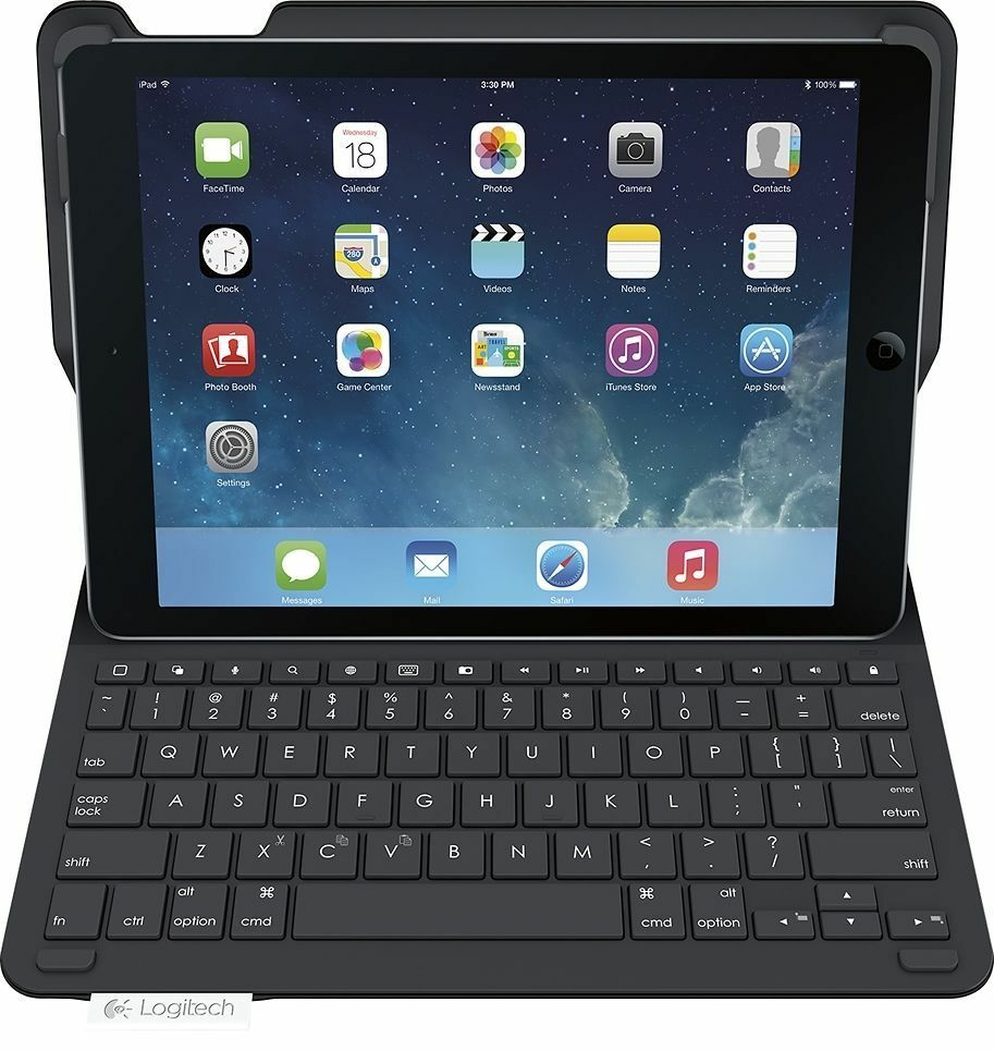 "Logitech Type+ iPad 9.7"" 6th Gen Protective Wireless Folio Cover Case Keyboard - 2018-Daily Steals"