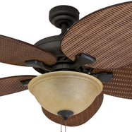 Prominence Home Ceiling Fan Palm Valley Tropical Palm Leaf Blade Indoor/Outdoor-Daily Steals