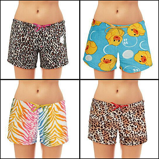 Women's Super Soft Printed Ultra Plush Assorted Shorts - 4 Pack-Daily Steals