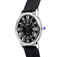 Steinhausen Delmonte Black Dial Silver Tone Men's Watch S0719-Daily Steals