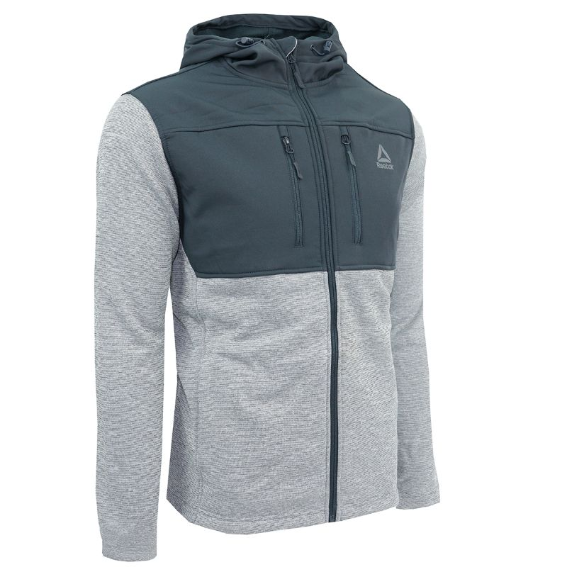 Reebok Men's Softshell Swacket Jacket-Grey-L-Daily Steals