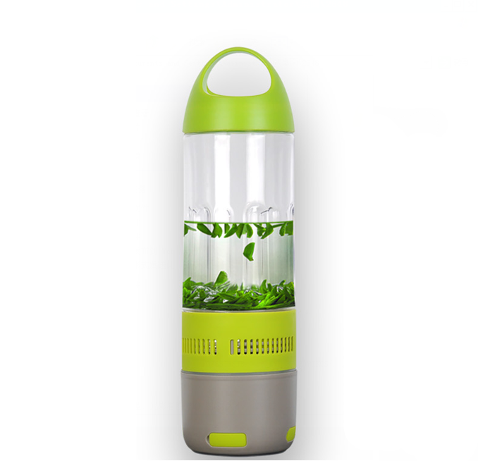 Daily Steals-Water Bottle with Built-in Bluetooth Speaker and Optional Power Bank-Speakers-With Power Bank - Green-