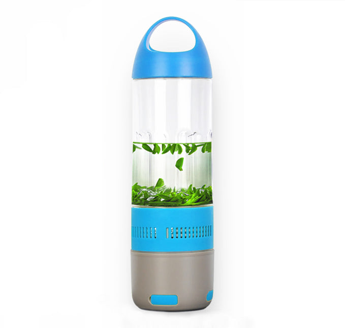 Daily Steals-Water Bottle with Built-in Bluetooth Speaker and Optional Power Bank-Speakers-With Power Bank - Blue-