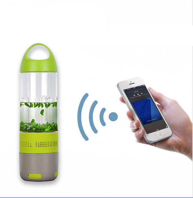 Daily Steals-Water Bottle with Built-in Bluetooth Speaker and Optional Power Bank-Speakers-