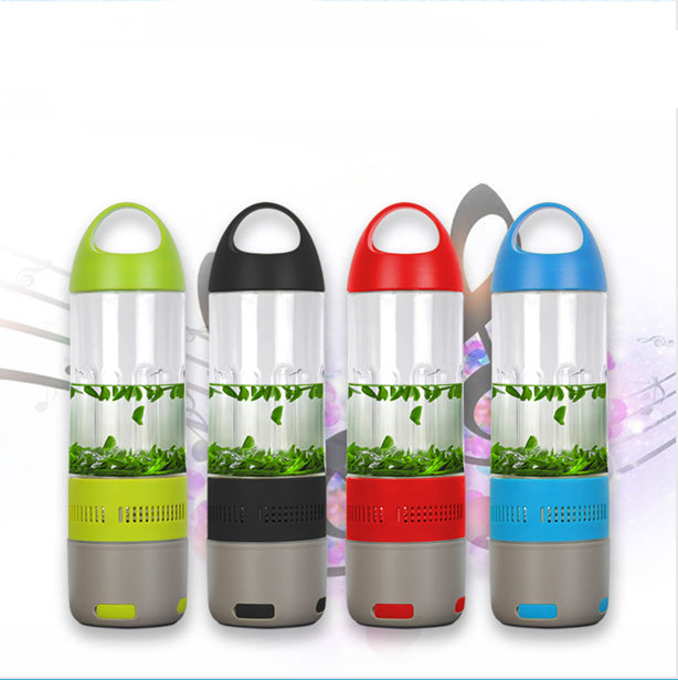Water Bottle with Built-in Bluetooth Speaker and Optional Power Bank-With Power Bank - Black-Daily Steals