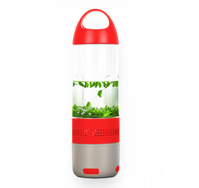 Daily Steals-Water Bottle with Built-in Bluetooth Speaker and Optional Power Bank-Speakers-With Power Bank - Red-