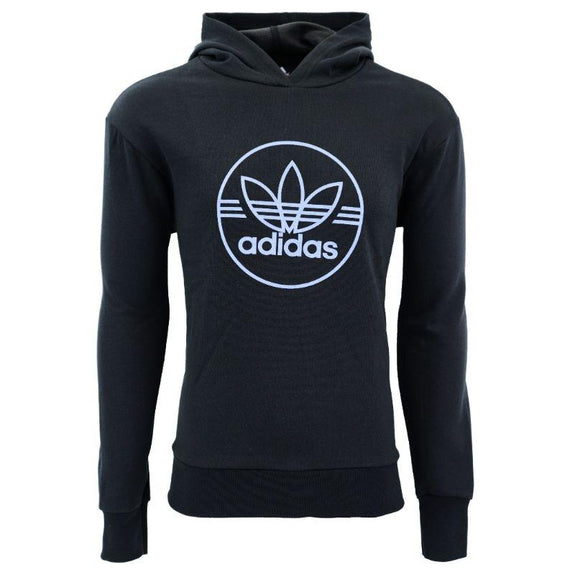 Sweat à Capuche Homme Trefoil Circle Performance adidas-Noir / Bleu-M-Daily Steals