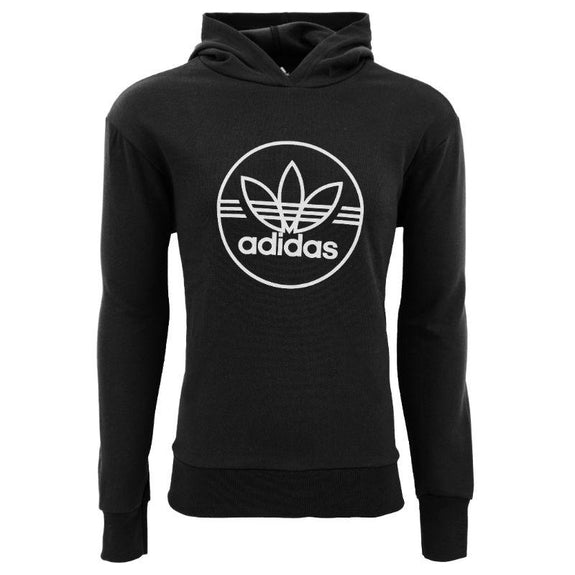 Sweat à Capuche Homme Trefoil Circle Performance adidas-Noir / Gris-S-Daily Steals