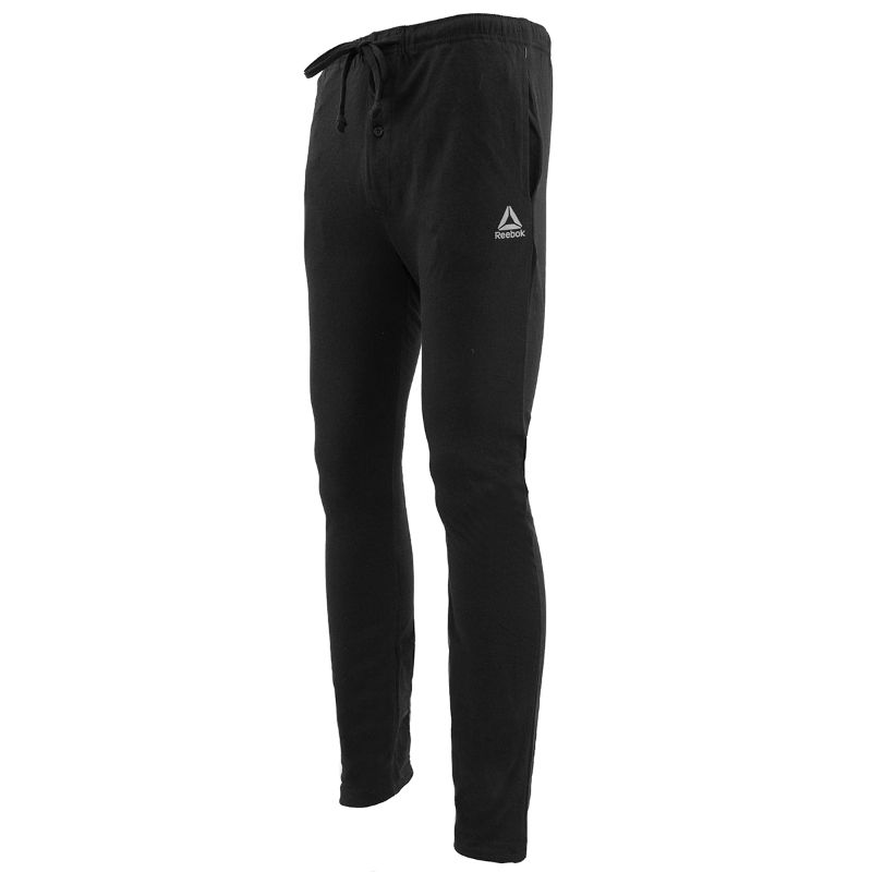Reebok Men's Core Knit Loungewear Pants-Black-S-Daily Steals