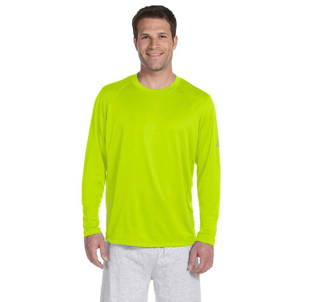 Daily Steals-New Balance Men's Long Sleeve Performance T-Shirt-Men's Apparel-SAFETY GREEN-2X-