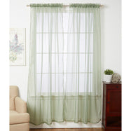 Linda Sheer Voile Curtain Panels - Various Colors - 4-Pack-SAGE-Daily Steals