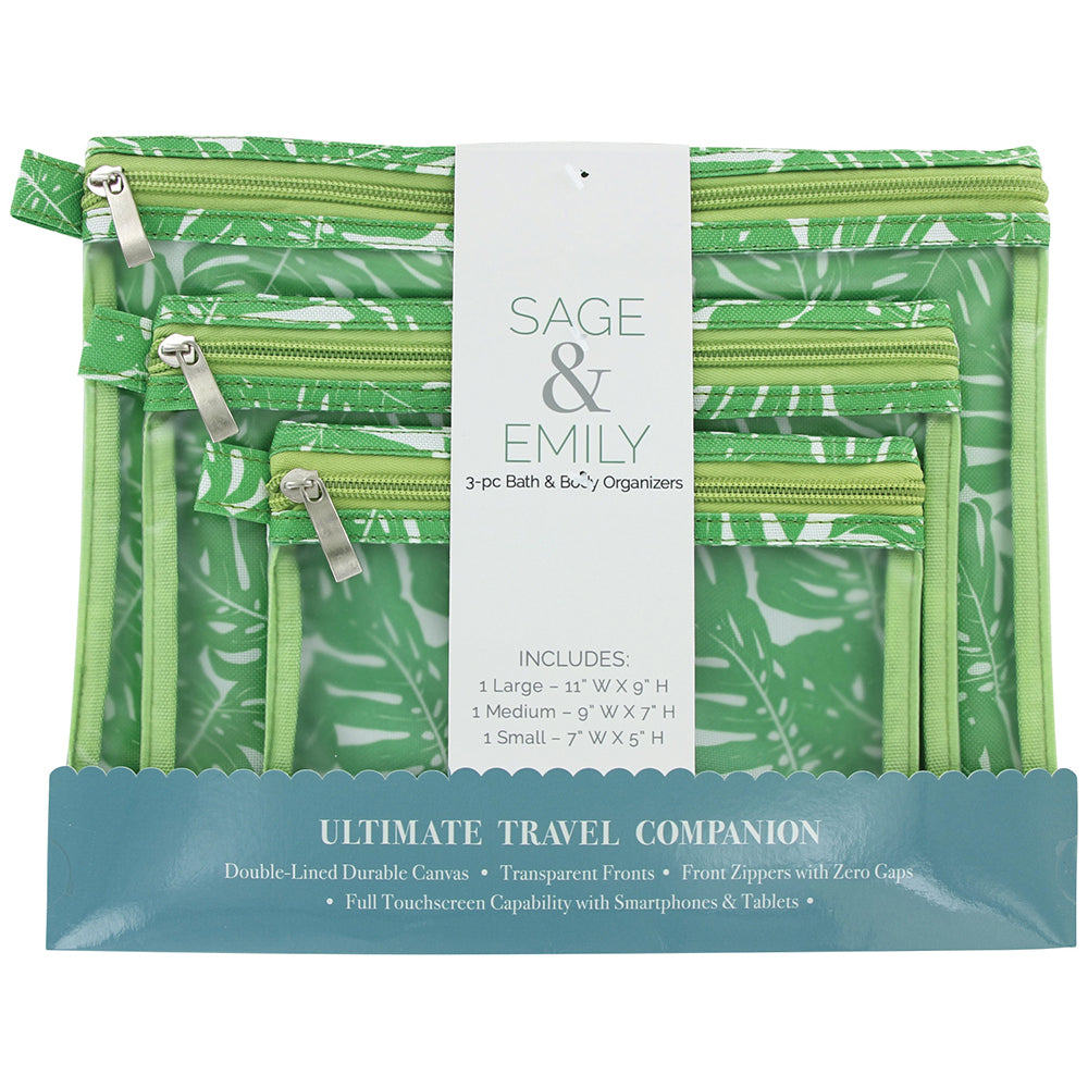 SAGE and EMILY 3 Piece Bath and Body Organizer-Palm-Daily Steals