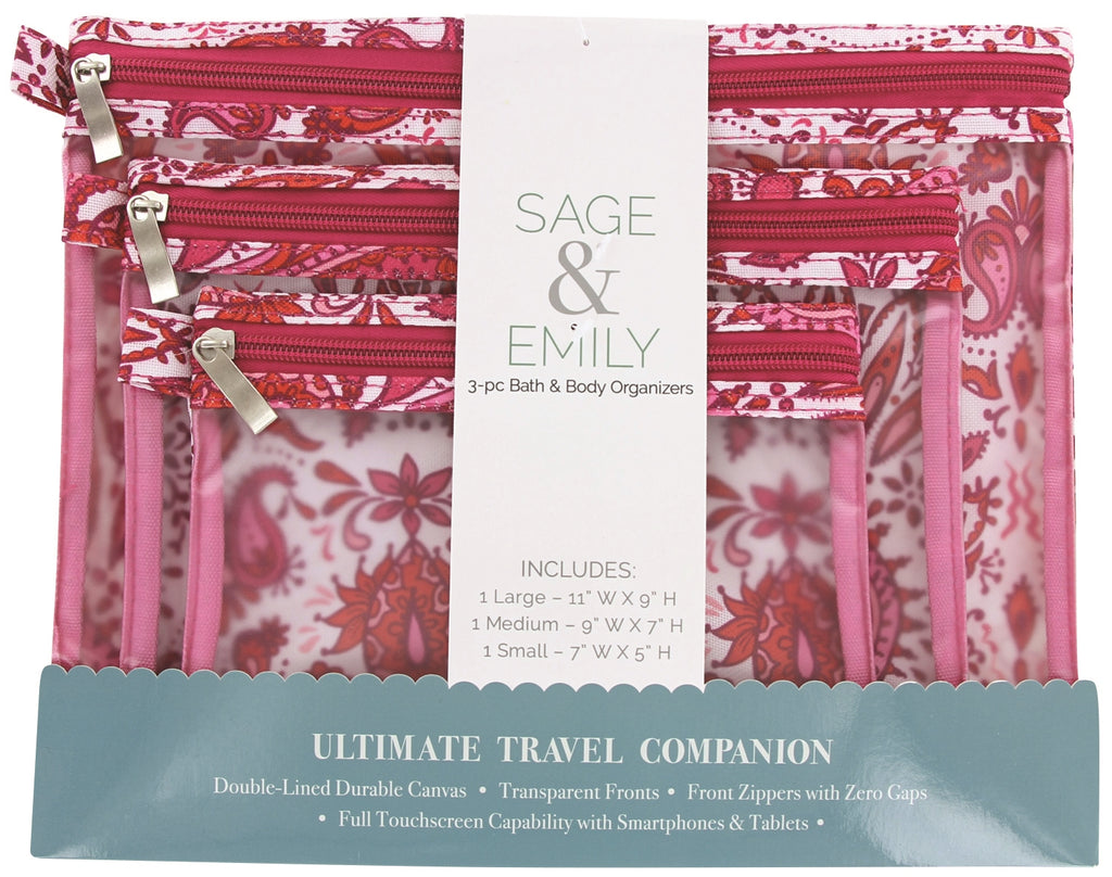 SAGE and EMILY 3 Piece Bath and Body Organizer-Boho-Daily Steals