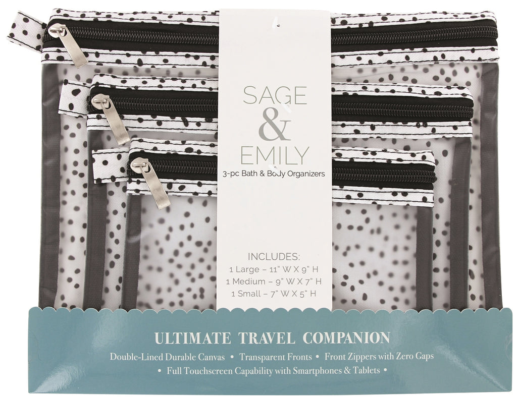 SAGE and EMILY 3 Piece Bath and Body Organizer-Dots-Daily Steals