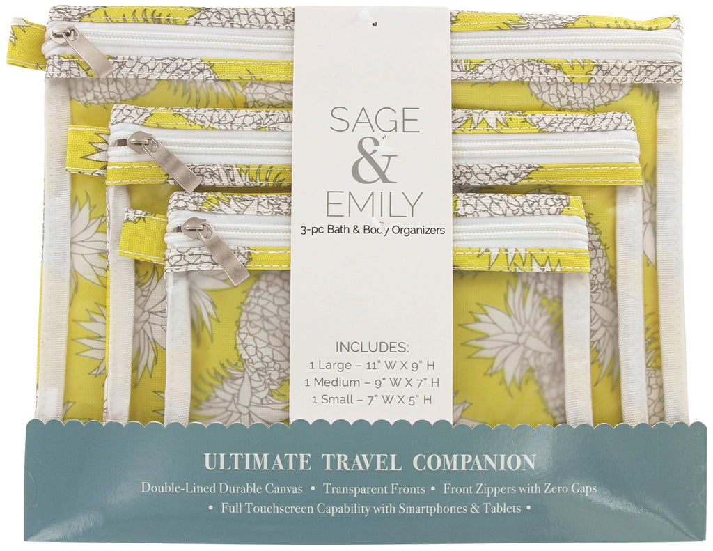 SAGE and EMILY 3 Piece Bath and Body Organizer-pineapple-Daily Steals