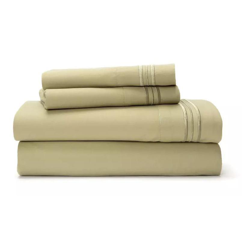 Ultra Soft 1800 Series Bamboo Blend Sheets - 4 Piece Set-Sage-Twin-Daily Steals