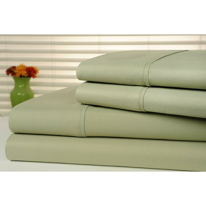 Bamboo Luxury 1800 Count Solid Sheet Set - 4 Pieces-Sage-Full-Daily Steals