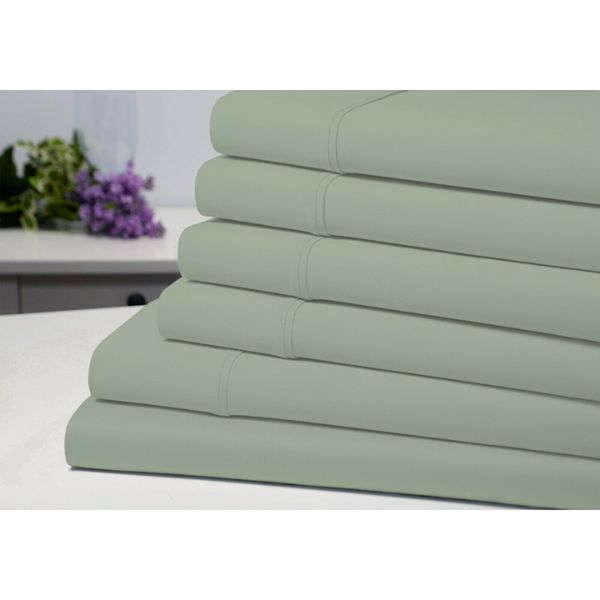 Bamboo 6-Piece 1800 Count Extra Soft Luxury Sheet Set-Sage-Full-Daily Steals