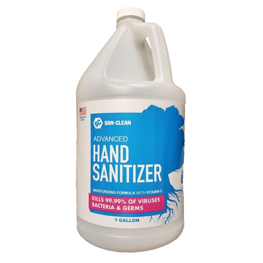 San-Clean Advanced Hand Sanitizer 65% Ethyl Alcohol with Vitamin E - 1 Gallon (128oz)-Daily Steals