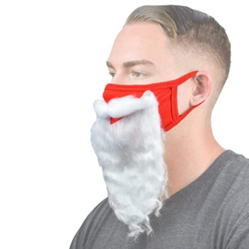 Holiday Santa Beard Face Mask Costume for - 1 or 2 Pack
