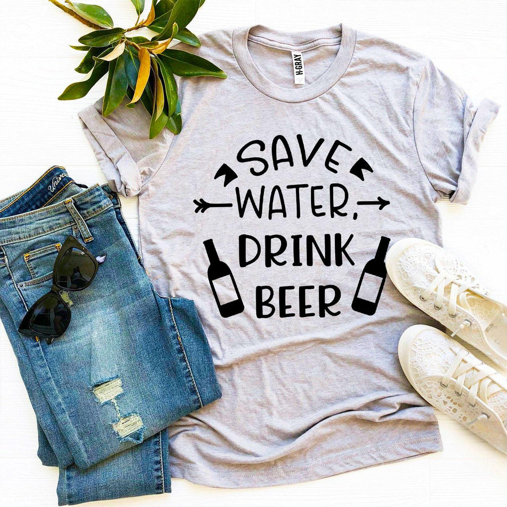 Save Water Drink Beer T-shirt-2XL-Black-