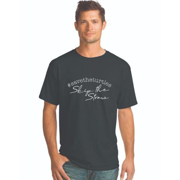 Daily Steals-#Savetheturtles - Skip the Straw T-Shirt-Men's Apparel-Black-S-