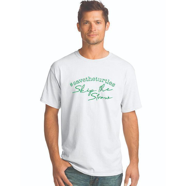Daily Steals-#Savetheturtles - Skip the Straw T-Shirt-Men's Apparel-White-S-