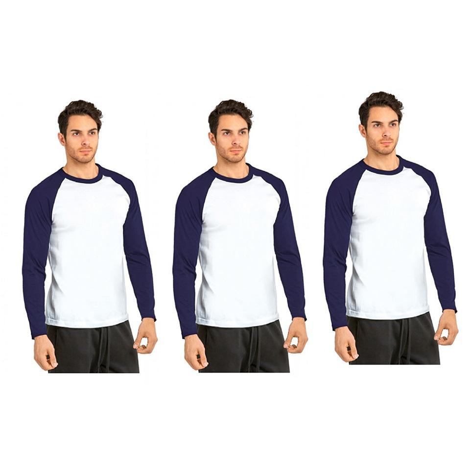 update alt-text with template Daily Steals-Unibasic Men's Classic Raglan Cut Long Sleeve - 2 Tone Baseball Tee-Men's Apparel-3 Pack Royal Blue and White-S-