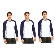 Unibasic Men's Classic Raglan Cut Long Sleeve - 2 Tone Baseball Tee-Daily Steals
