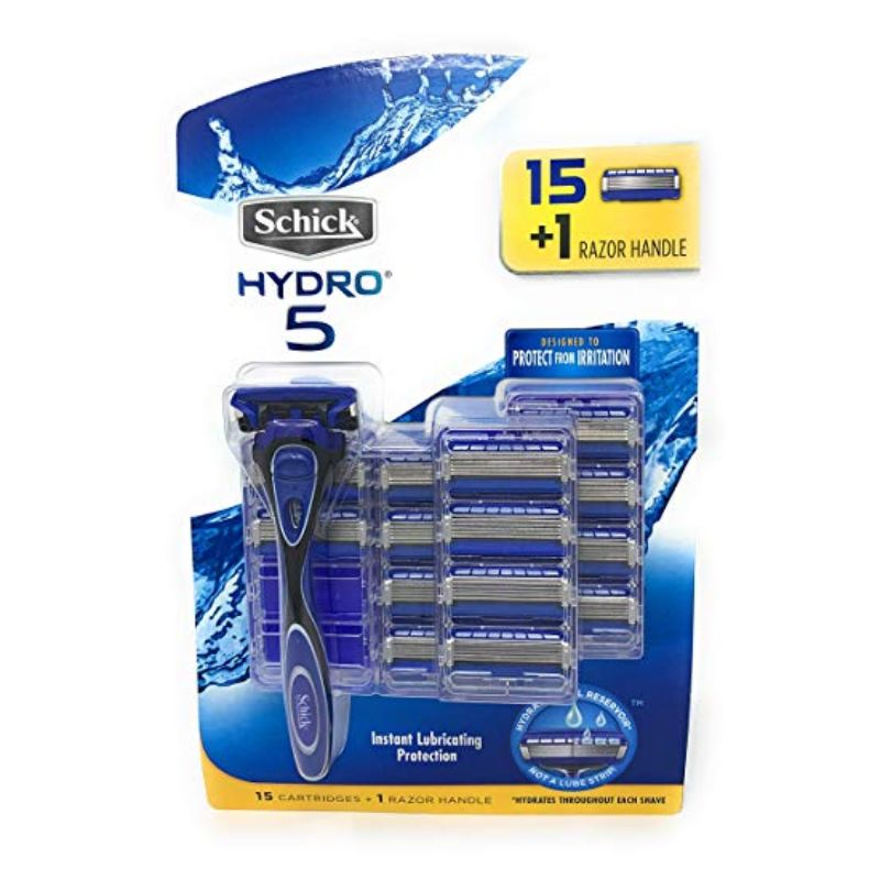 Schick Hydro 5 Set: 1 Razor Handle + 15 Refill Blade Cartridges-Daily Steals
