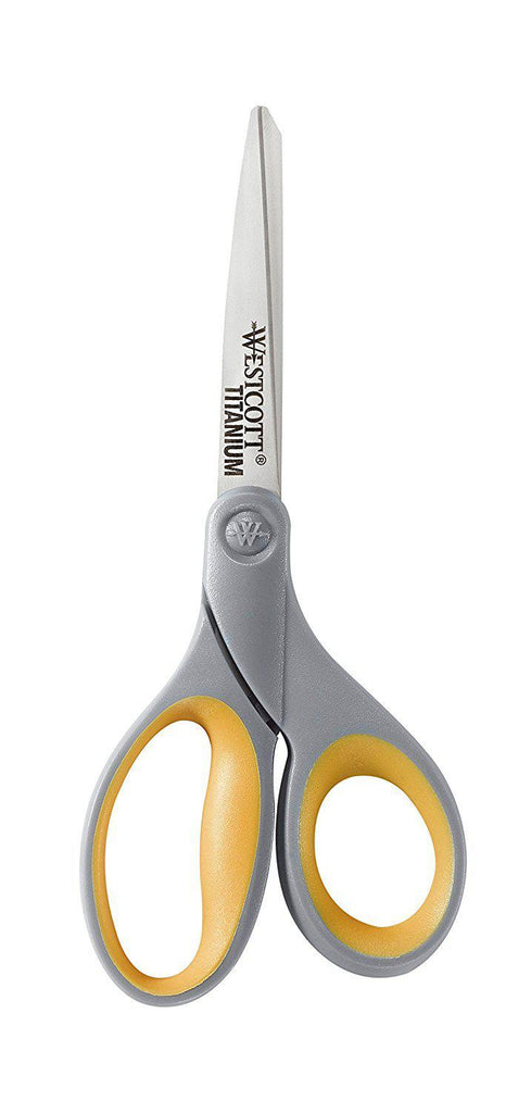 Westcott 8-Inch Straight Titanium Bonded Scissors - 4 Pack-Daily Steals