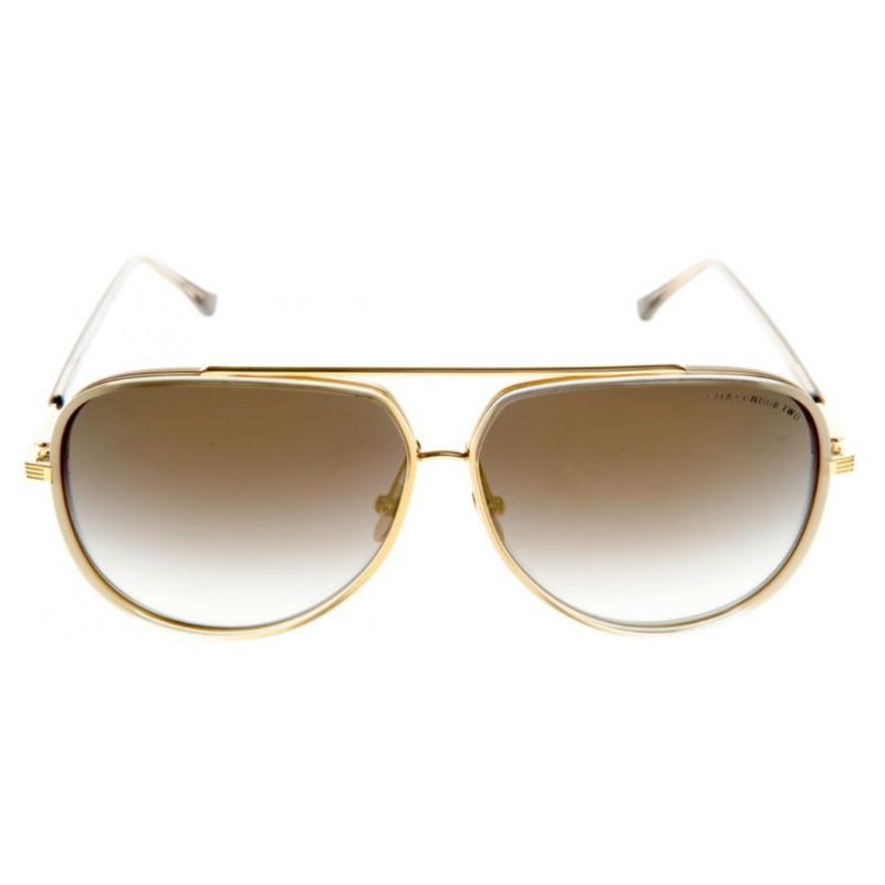 Lunettes de soleil DITA pour hommes - Condor-Two Crystal to Cream 18K Grey, Gold Flash-Daily Steals