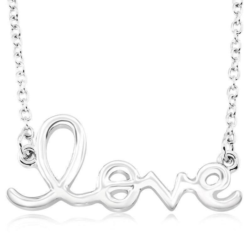 Daily Steals-Script Love Necklace-Jewelry-