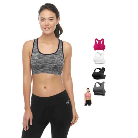 Daily Steals-Everlast Women's Padded Sports Bra - 2 Pack-Women's Apparel-Grey-S-