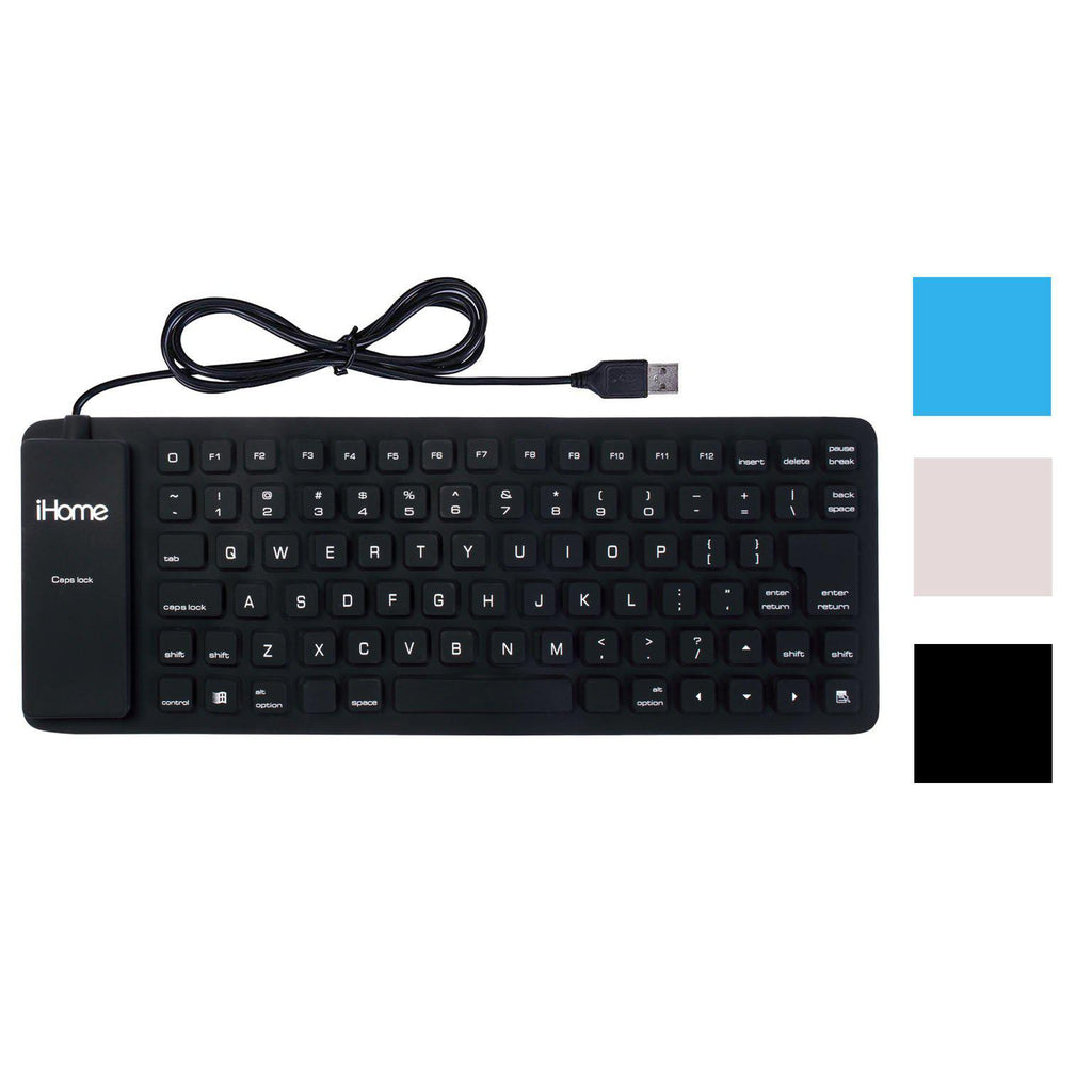 iHome Flexible Portable Travel USB Enabled Keyboard for Windows and Mac-Daily Steals