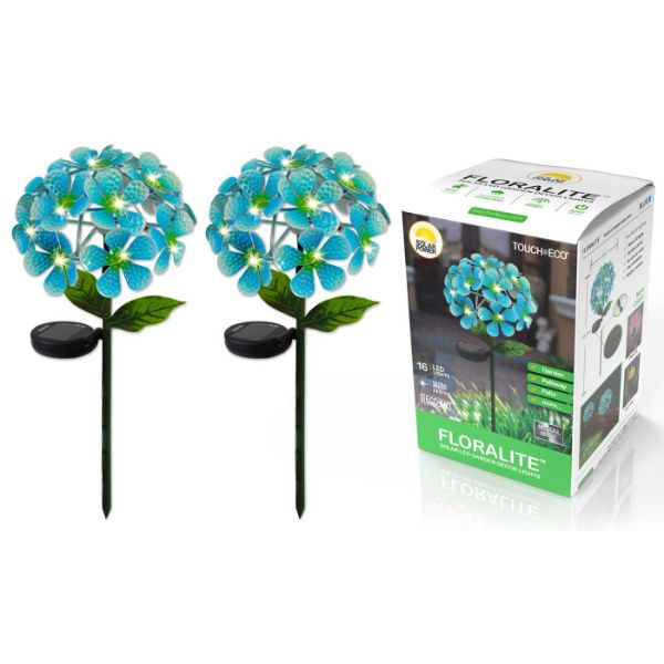 Solar LED Metal Flower Stake Lights - 1, 2, or 3 Pack-Blue-2-Pack-Daily Steals