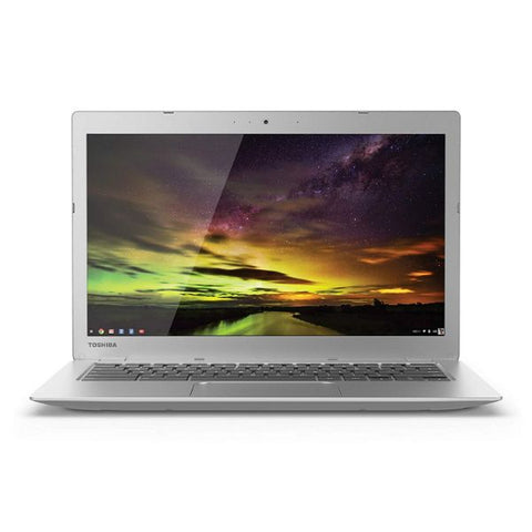 Daily Steals-Toshiba 13.3 Inch Chromebook (Intel Celeron, 2GB, 16GB SSD, Silver)-Laptops-