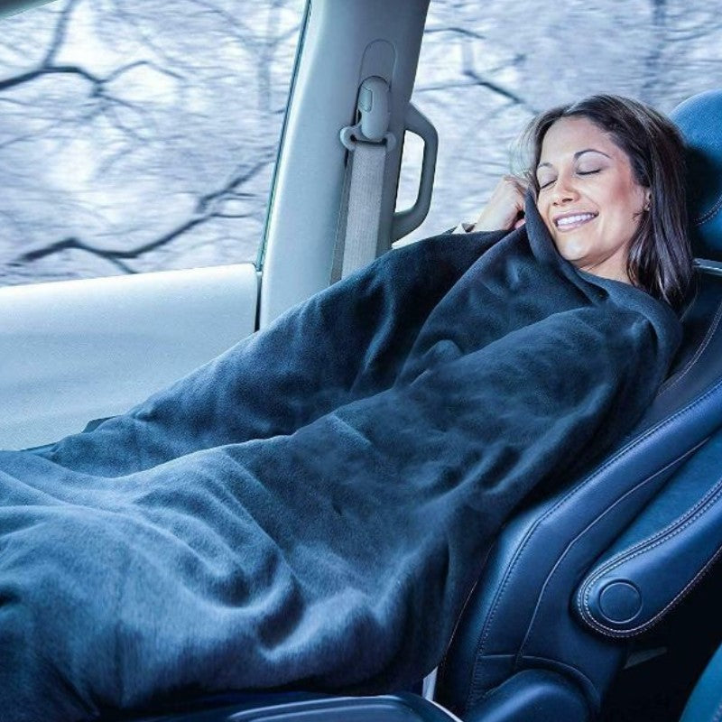 12V Automotive Polar Fleece Material Car Travel Blanket